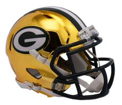 Green Bay Packers Riddell Replica Speed Mini Helmet - Chrome Alternate