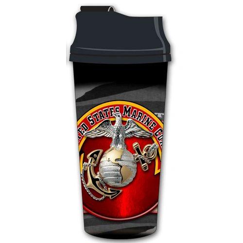 United States Marine Corps 16 Ounce Acrylic Travel Mug