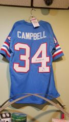 Earl Campbell Oilers Autographed Jersey w/Inscription JSA