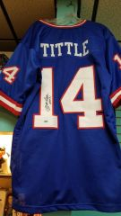Y.A. Tittle New York Giants Autographed Jersey JSA