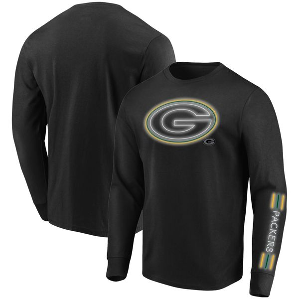 Majestic Black Green Bay Packers Startling Success Long Sleeve Shirt