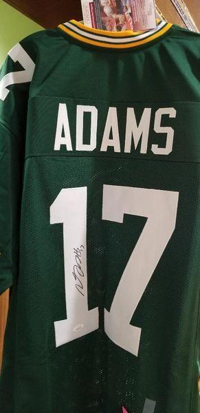 Davante Adams Autographed Custom Jersey JSA