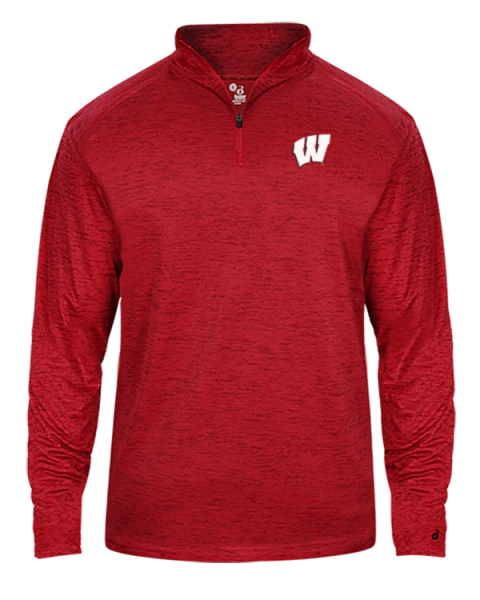 Wisconsin Badgers Men's Tonal Blend 1/4 Zip Pullover L/S