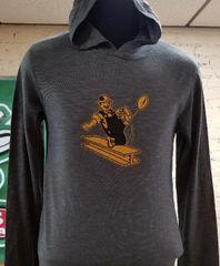 Pittsburgh Steelers Vintage Logo Pullover Lightweight Hooded Shirt