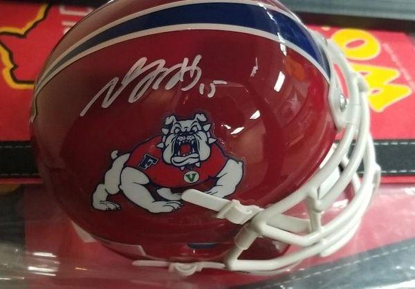 Green Bay Packers Davante Adams Autographed Fresno State Mini Helmet