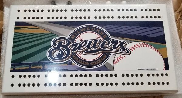 Milwaukee Brewers MLB Licensed Cribbage Board