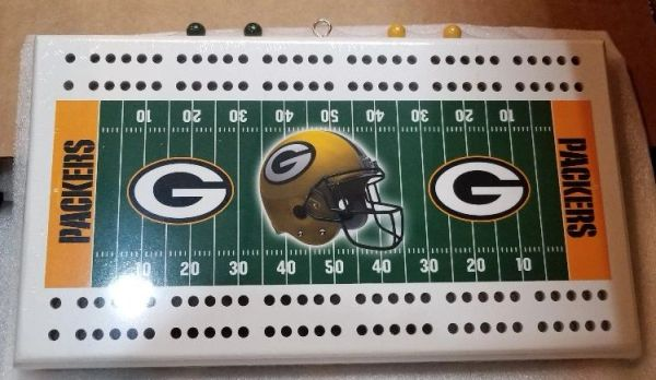 Green Bay Packers NFL Licensed Cribbage Board
