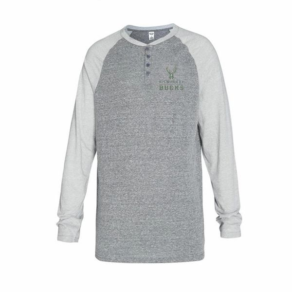 Milwaukee Bucks Henley Long Sleeve Homestretch