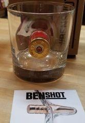 BenShot Shotgun Shell Rocks Glass with Real Shell Made in the USA