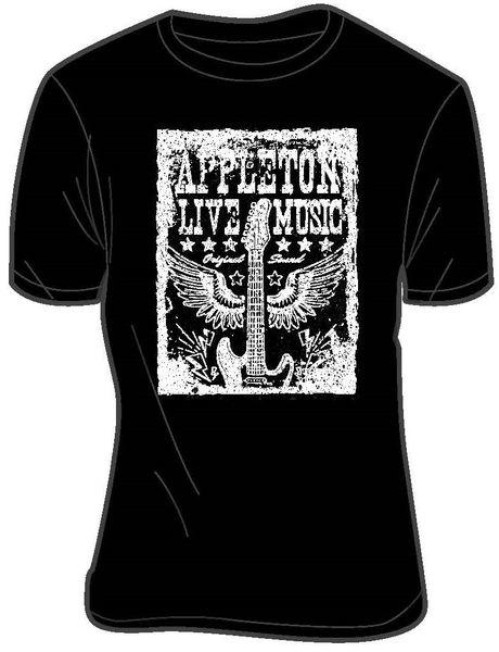 Appleton Live Music T-Shirt Black
