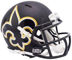 New Orleans Saints NFL Riddell AMP Alternate Mini Speed Helmet