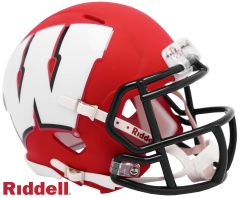 Wisconsin Badgers NCAA Riddell AMP Alternate Mini Speed Helmet