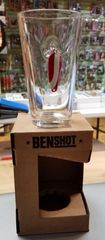 BenShot Pint Glass with Real Fishing Lure 16oz Made in the USA