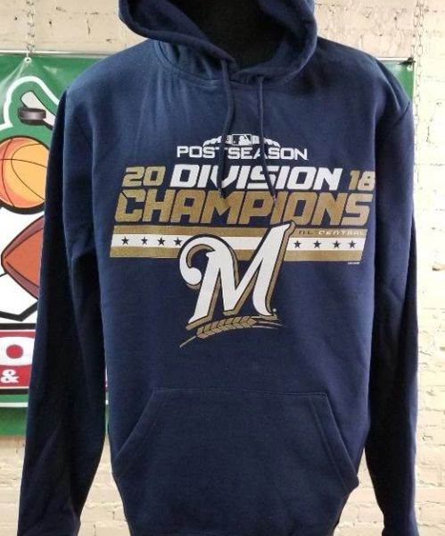 Milwaukee Brewers 2018 Division Champions Pullover Hoodie Hood