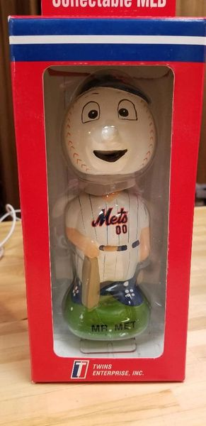 1996 Twins Enterprise Inc, New York Mets Mascot Bobblehead Mr Mets