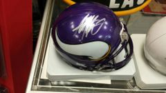 Minnesota Vikings Adrian Peterson Autographed Mini Helmet