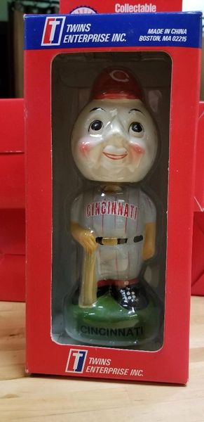 1996 Twins Enterprise Inc, Cincinnati Reds Mascot Bobblehead RARE VERSION