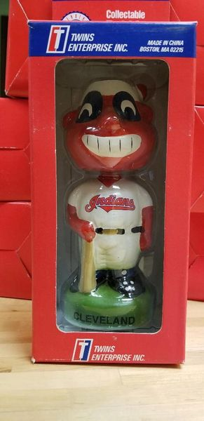 1996 Twins Enterprise Inc, Cleveland Indians Wahoo Mascot Bobblehead