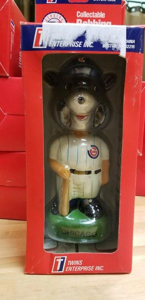 1996 Twins Enterprise Inc, Chicago Cubs Mascot Bobblehead
