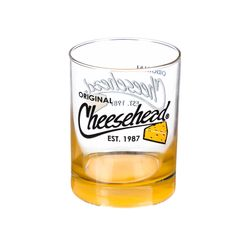 Cheesehead Old Fashion 13.5 OZ Tumbler Glass