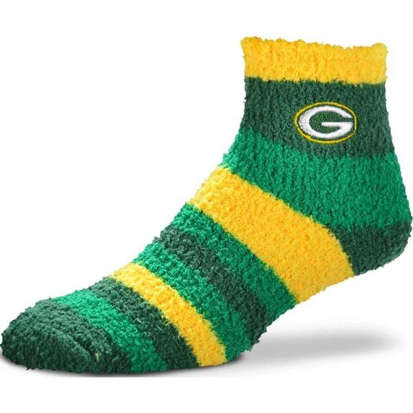 Green Bay Packers Rainbow Fuzzy Socks