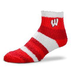 Wisconsin Badgers Rainbow Fuzzy Socks