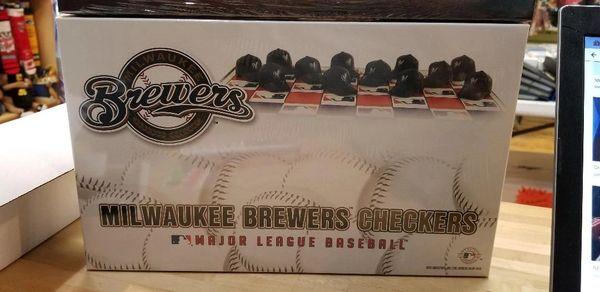 Milwaukee Brewers Checkers Game Set MLB