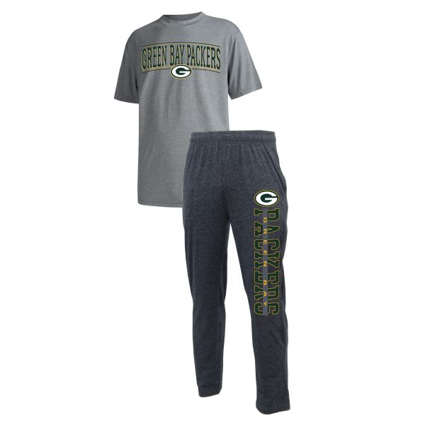 Green Bay Packers Mens 2 Piece Flannel Sleep Set Runway
