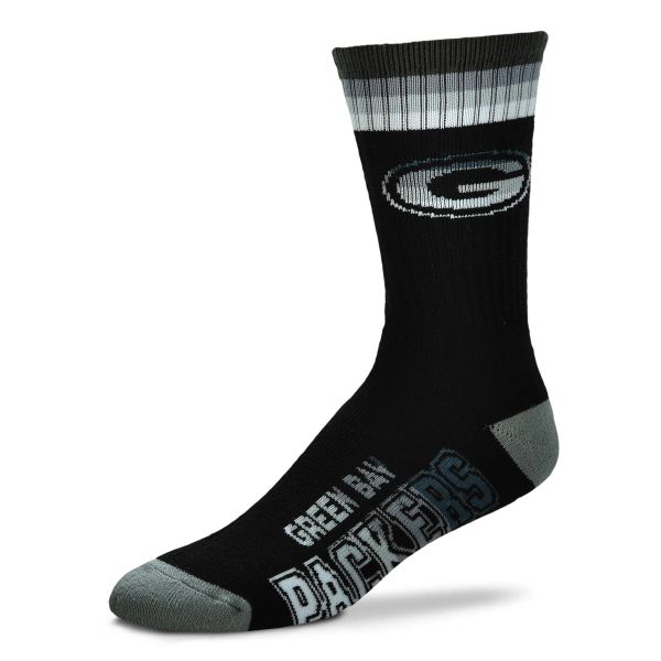 Green Bay Packers For Bare Feet Platinum Deuce Quarter Length Socks Large