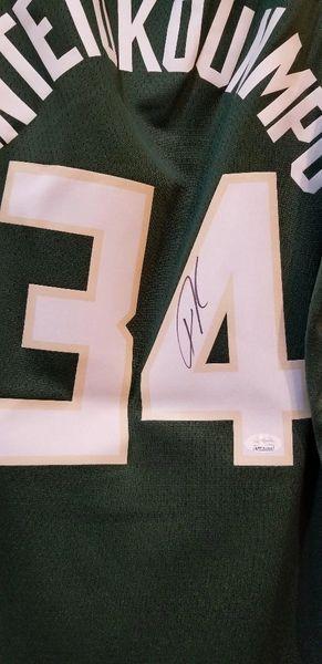 Giannis Antetokounmpo Bucks Nike Swingman Autographed Jersey JSA