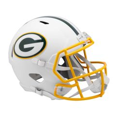 Green Bay Packers Flat White Speed Mini Riddell Helmet