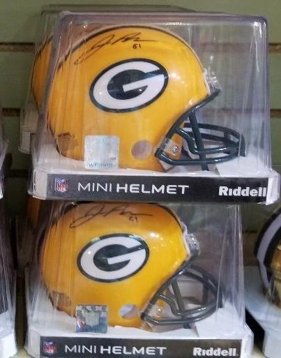 Green Bay Packers Geronimo Allison Autographed Mini Helmet Regular