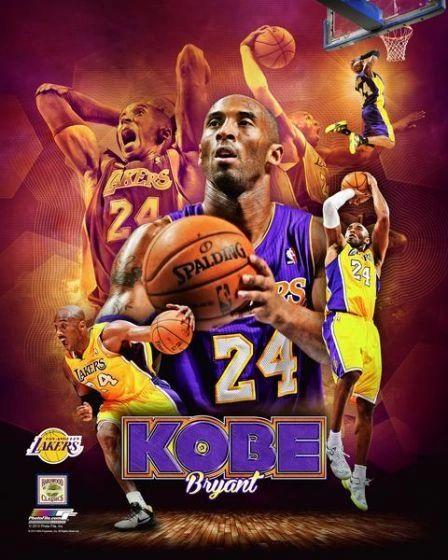 Kobe Bryant Los Angeles Lakers 20x24 Canvas Print NBA #1