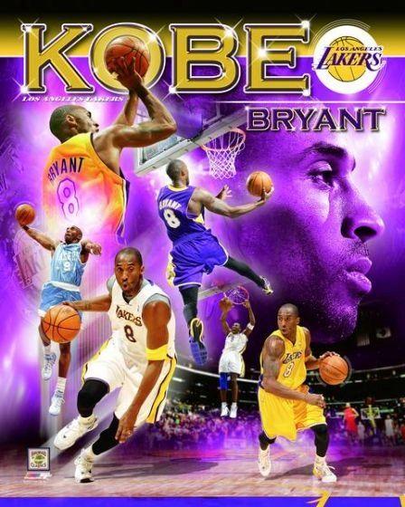 Kobe Bryant Los Angeles Lakers 20x24 Canvas Print NBA #2