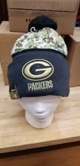 NEW ERA GREEN BAY PACKERS SALUTE TO SERVICE 2016 ON FIELD KNIT HAT BEANIE POM