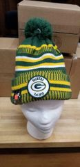 GREEN BAY PACKERS 100 YEAR SIDELINE BEANIE POM CAP HAT NFL OFFICIAL NEW ERA