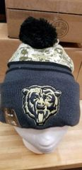 NEW ERA SPORT KNIT CHICAGO BEARS SALUTE TO SERVICE 2016 BEANIE HAT POM