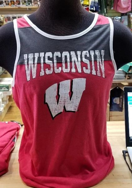 Wisconsin Badgers NCAA Colosseum Brand Tank Top NWT