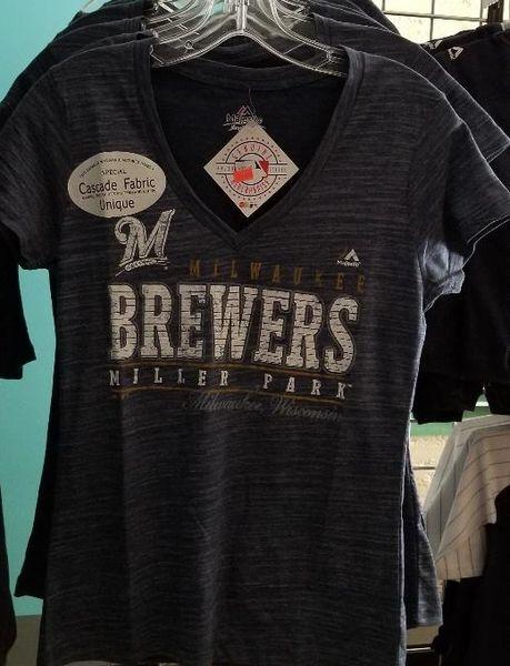 Milwaukee Brewers Miller Park Ladies V-Neck Cascade Shirt