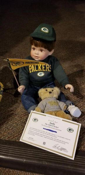 Danbury Mint Green Bay Packers The Littlest Fan Boy