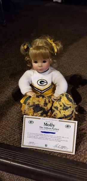 Danbury Mint Green Bay Packers The Littlest Fan Girl