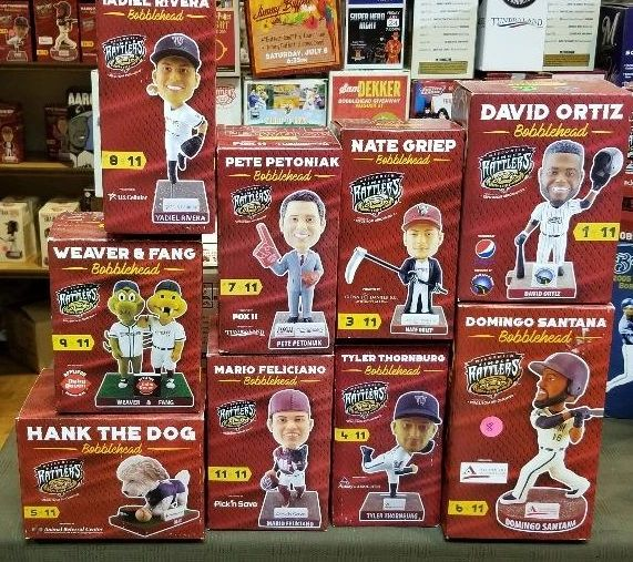 2017 Wisconsin Timber Rattlers SGA Bobbleheads Ortiz,Hank,Fang