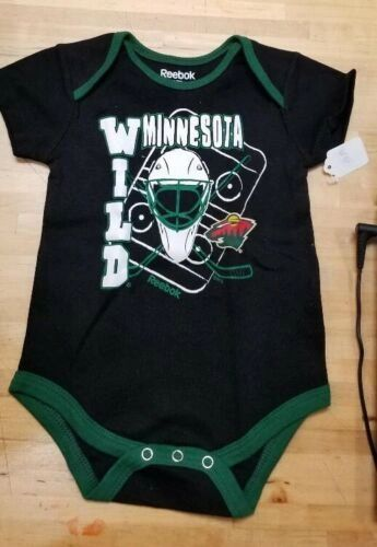 MINNESOTA WILD INFANT ONESIE BABY CREEPER ROMPER COVERALL NHL LICENSED