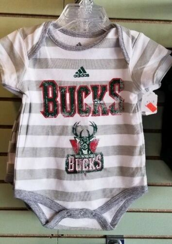 MILWAUKEE BUCKS CREEPER ROMPER COVERALL BABY INFANT NWT LICENSED NBA