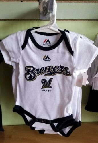 MILWAUKEE BREWERS CREEPER ROMPER UNISEX BOY GIRL NWT LICENSED