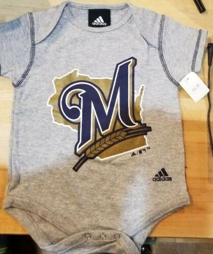 MILWAUKEE BREWERS ONESIE CREEPER ROMPER COVERALL BABY INFANT NWT LICENSED MLB