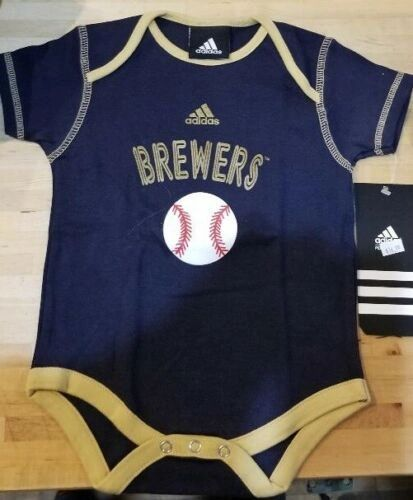 MILWAUKEE BREWERS CREEPER ROMPER COVERALL BABY INFANT NWT LICENSED MLB
