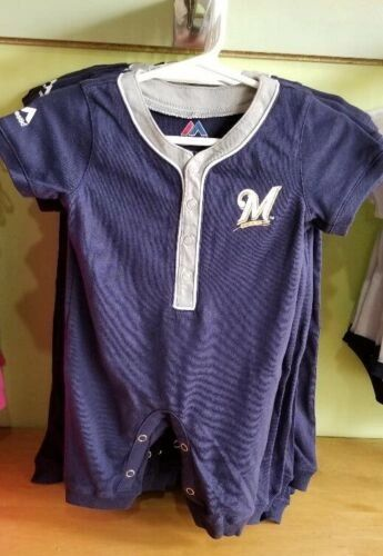 MILWAUKEE BREWERS CREEPER ROMPER COVERALL BABY INFANT NWT LICENSED #5
