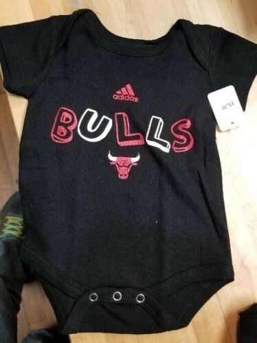 CHICAGO BULLS INFANT BABY CREEPER ROMPER COVERALL NBA LICENSED