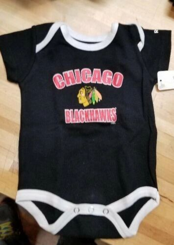 CHICAGO BLACKHAWKS INFANT BABY CREEPER ROMPER COVERALL NHL LICENSED #2